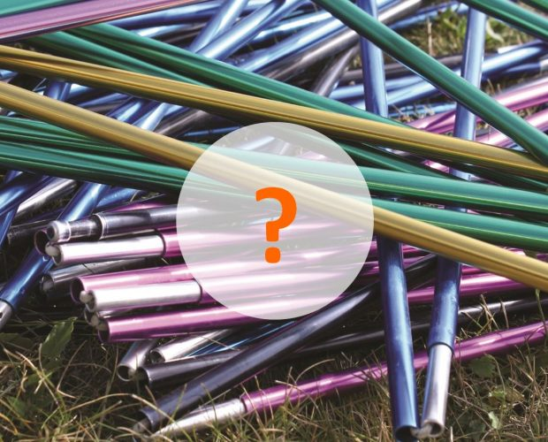 Ever seen a pile of mixed tent poles before?